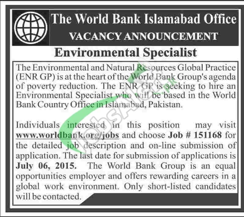 World Bank Jobs in Pakistan