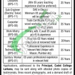 Cadet College Larkana Jobs
