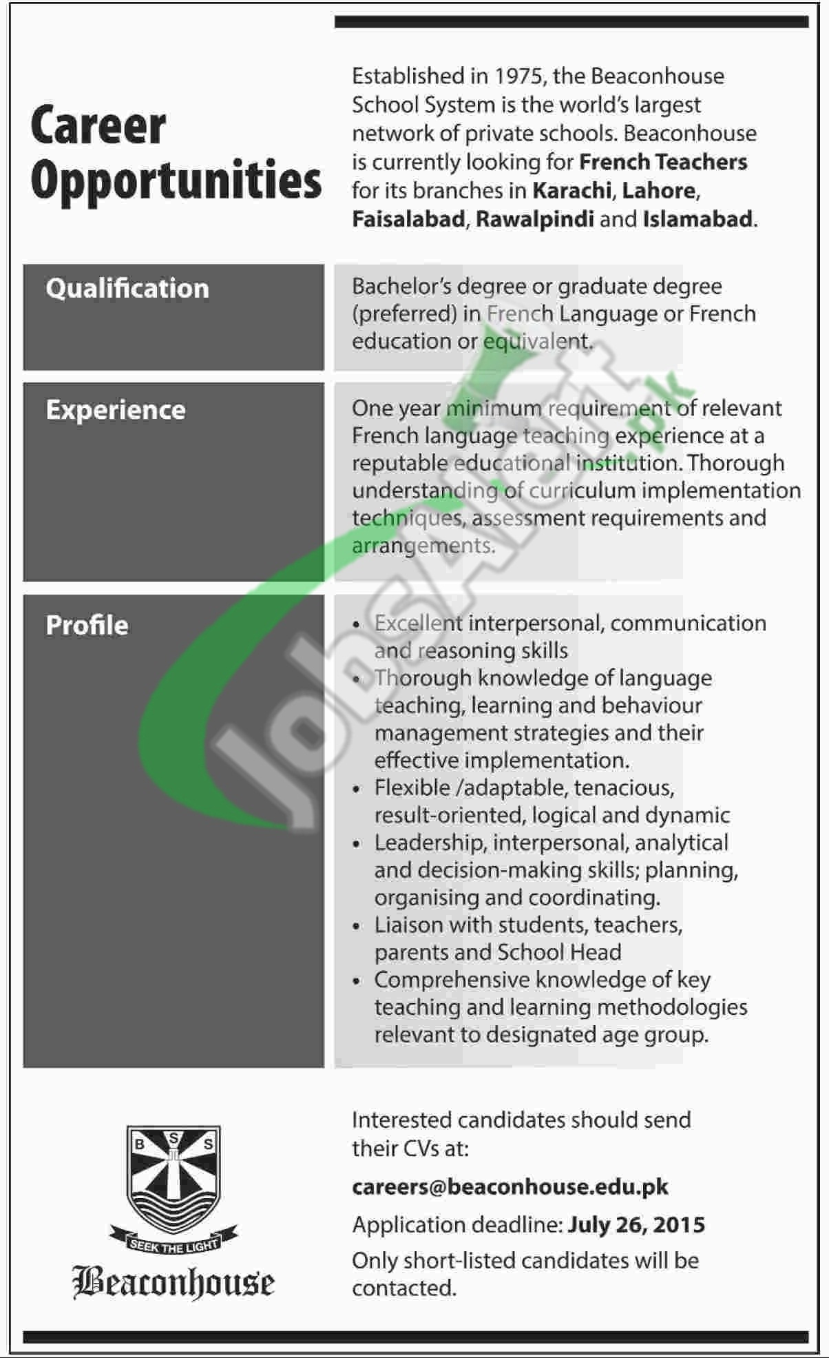 Teaching French Jobs - Lawteched
