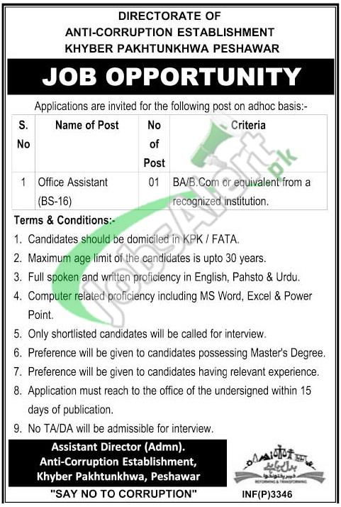 Anti Corruption Establishment KPK Jobs