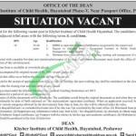 Khyber Institute of Child Health Peshawar Jobs