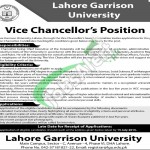 Lahore Garrison University Jobs