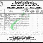Punjab Social Security Health Management Company Jobs