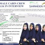 Shaheen Air Cabin Crew Jobs 2015