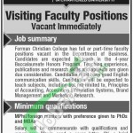 FC College Lahore Jobs
