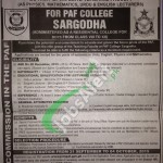 PAF College Sargodha Jobs