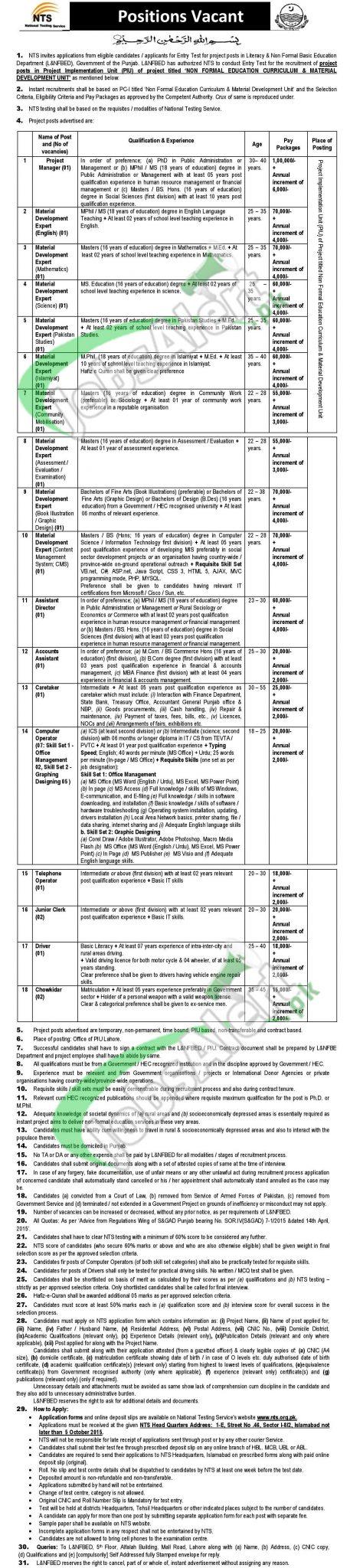 Literacy & NFBE Department Jobs