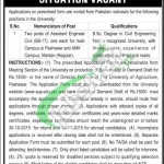 Agriculture University Peshawar Jobs