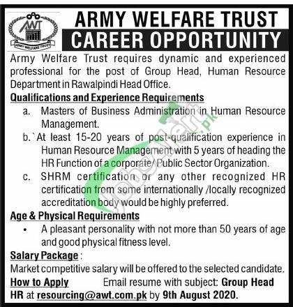 Army Welfare Trust Jobs