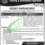 Planning & Development Department AJK Jobs