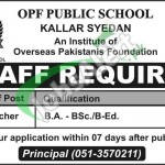 Latest Jobs in OPF School