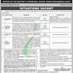 Session Court Tando Muhammad Khan Jobs