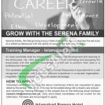 Islamabad Serena Hotel Jobs
