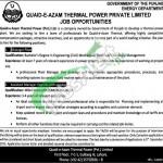 Quaid e Azam Thermal Power Jobs