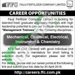 Career Opportunities in Fauji Fertilizer Company Limited 2016 in Pakistan NTS Test
