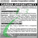 Career Opportunities in Javedan Corporation Limited Karachi
