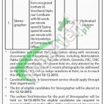 District & Session Court Jamshoro Jobs