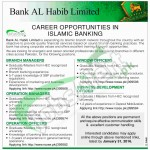 Bank Al Habib Limited Jobs