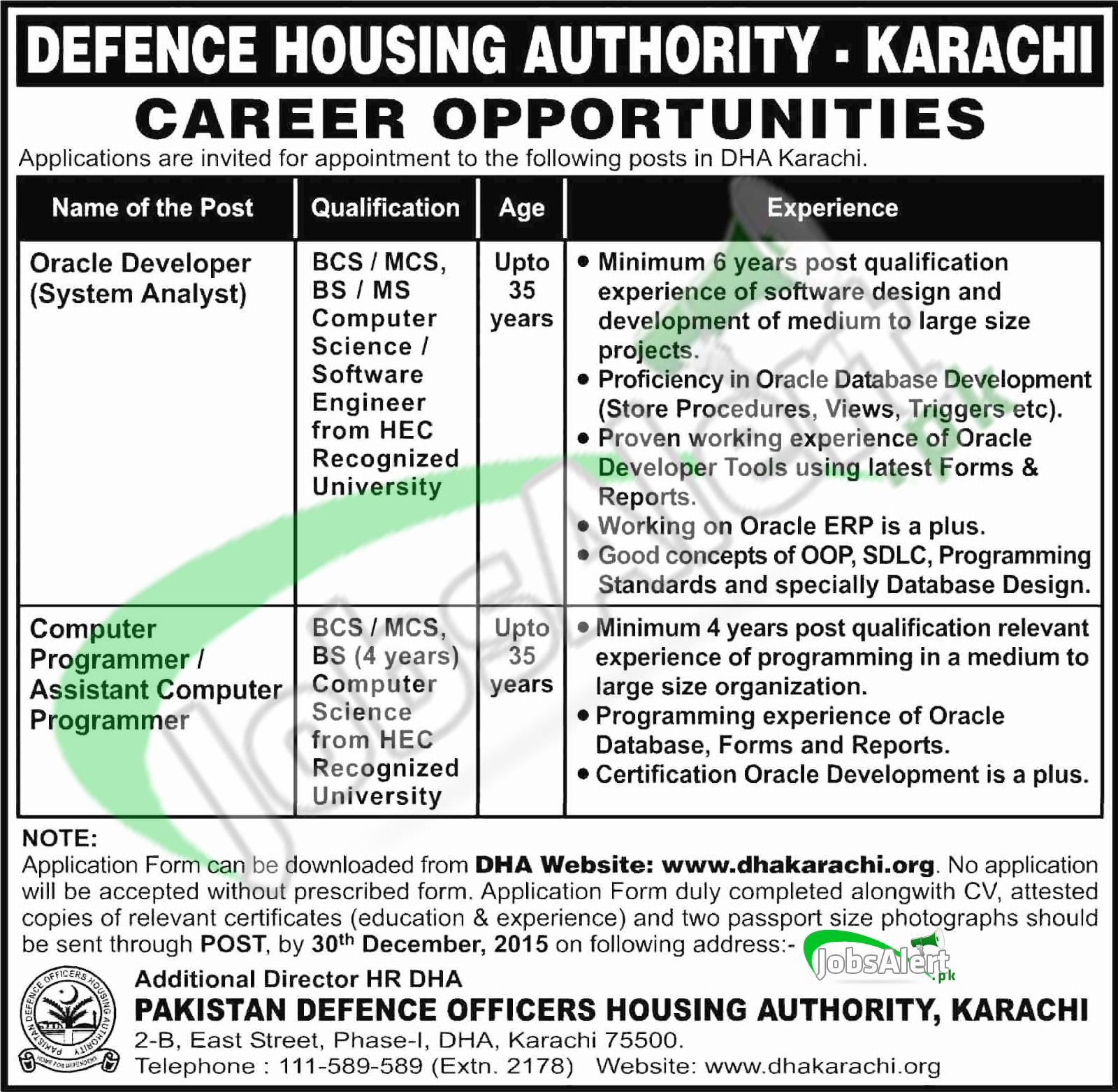 DHA Jobs Karachi