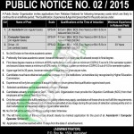 Recruitment Opportunities in Public Sector Organization Islamabad
