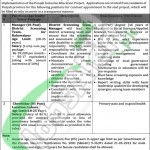 Career Opportunities in Special Educaion Department Govt of Punjab for Manager2016