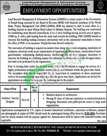 Punjab Board of Revenue Jobs