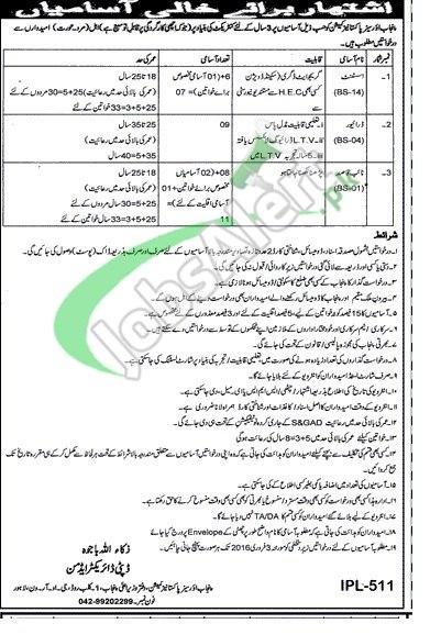 Punjab Overseas Pakistani Commission Jobs