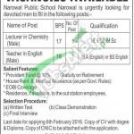 Narowal Public School Jobs