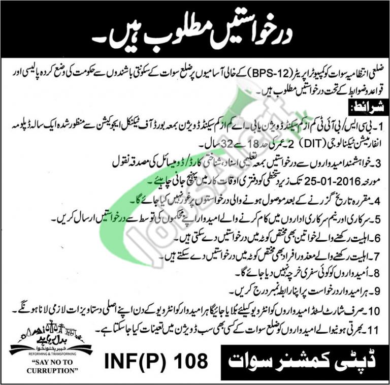 Jobs in Swat