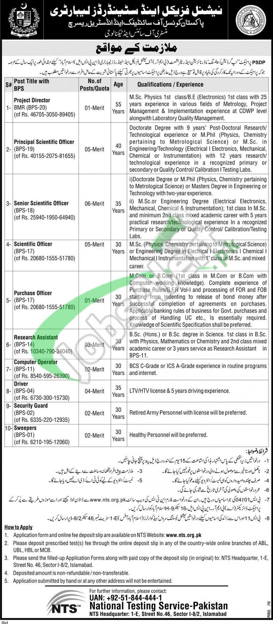NPSL Islamabad Jobs