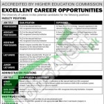 Recruitment Offers in University of Lahore 2016 Jobs for Teaching and Non- Teaching Staff