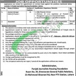 Punjab Journalist Housing Foundation Jobs