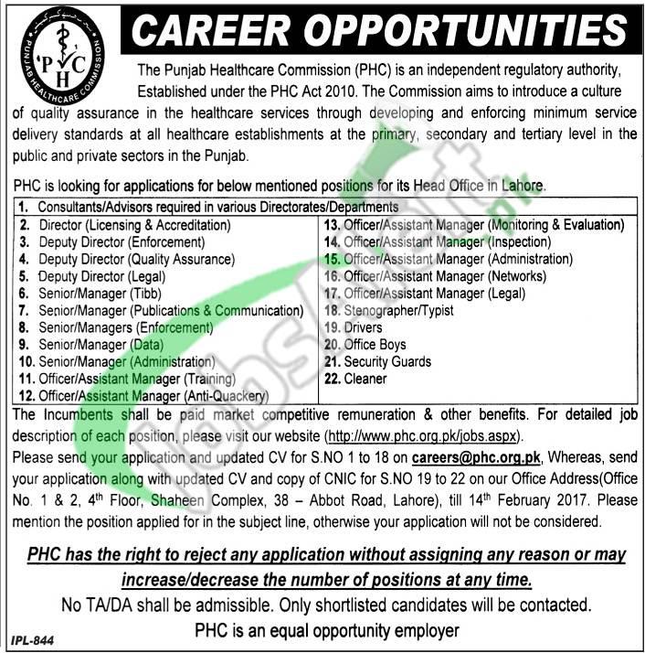PHC Jobs