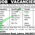 LPG Marketing Company Jobs 2016 for Manager, Accounts Officer and Logistic Officer