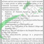 Recruitment Offer in Lady Reading Hospital for Finance Director 2016