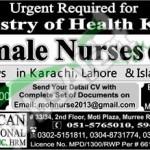 Career Opportunities in Saudi Arabia Ministry of Health for Female Nurse 2016