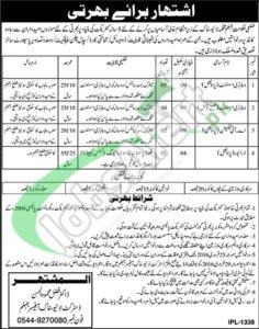 Govt of Punjab Livestock Department 09 February 2016 Jobs in Jhelum