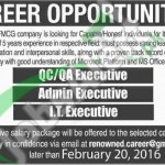 Recruitment Offers in FMCG Company February 2016 in Karachi Latest Advertisement