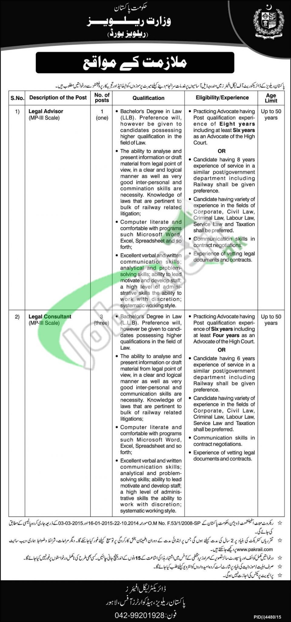 Pakistan Railways Jobs