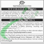 Recruitment Offers in TCF ThE Citizen Foundation 2016 Career Opportunities