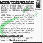 Situations Vacant in UNDP 2016 Lahore For Provincial Project Manager Apply Online