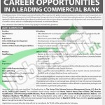 Situations Vacant in Commercial Banks Pakistan February 2016 For IS Auditors & Officers Career Opportunities