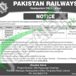 Recruitment Offers in Pakistan Railways 24 February 2016 For Asstt Electrical Engineer Career Opportunities in Lahore