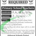 Situations Vacant for Primary School Teachers 24 Feb 2016 in Akhuwat School Project Lahore