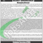 NTDCL Jobs in Lahore February 2016 For Managing Director Latest Advertisement