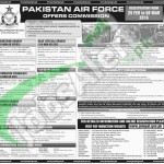 Situations Vacant in Pakistan Air Force 28 February 2016 Application Form Last Date
