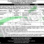 Employment Offers in Planning and Development Department 2016 Lahore Govt of Punjab Latest Advertisement