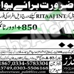 Situations Vacant in Ritaal International 25 February 2016 For Labour Urgently Required