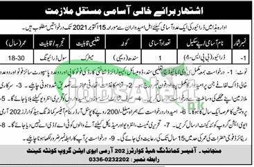 202 Army Aviation Group Quetta Cantt Jobs
