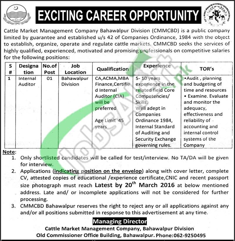 Cattle Market Management Company Jobs